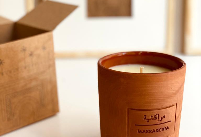 Beautiful Handmade Scented Candle Designed in Collaboration with Marie Bastide
