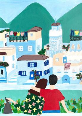 The Nopo- Chefchaouen the blue city illu