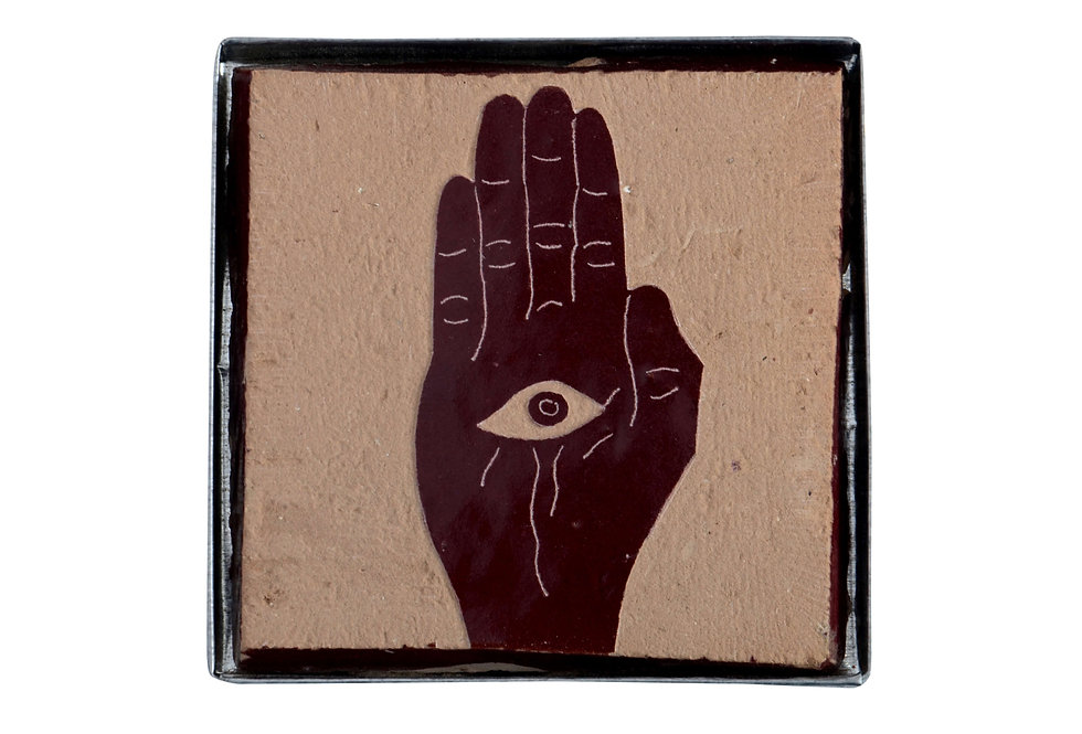 'Hamsa' Handmade Zellige Tile - Against The Evil Eye