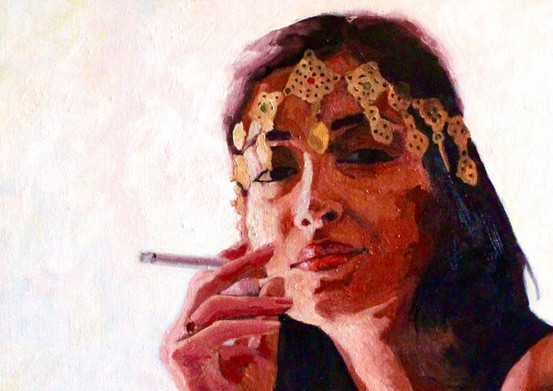 Portrait of women smoking by Zineb.jpg