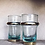 Thumbnail: Beautiful Handblown Moroccan Glasses with Metal Detail