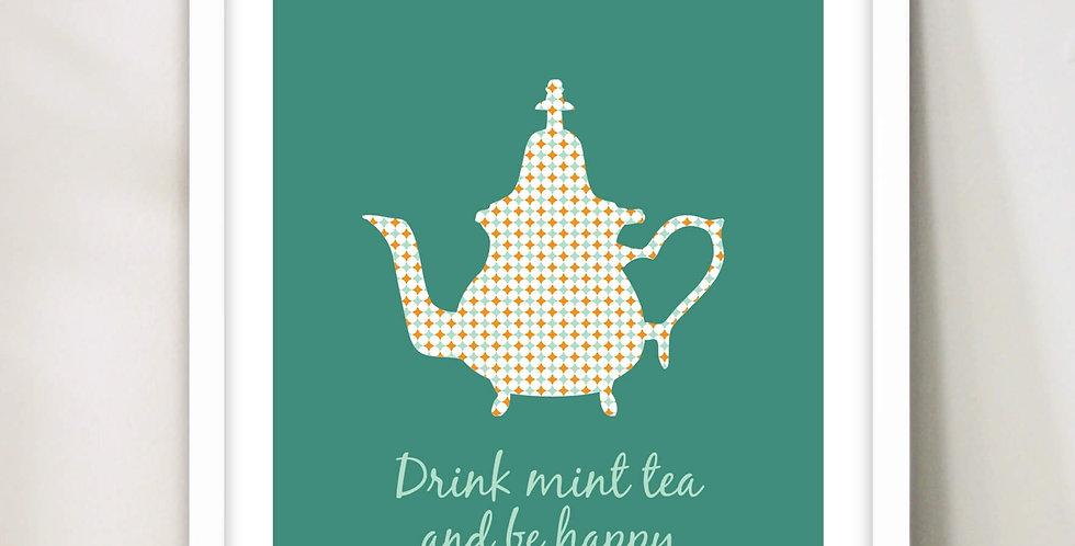 """""""Mint Tea"""" Print Wall Decor"""