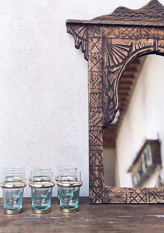 The Nopo- Handblown Moroccan glasses wit