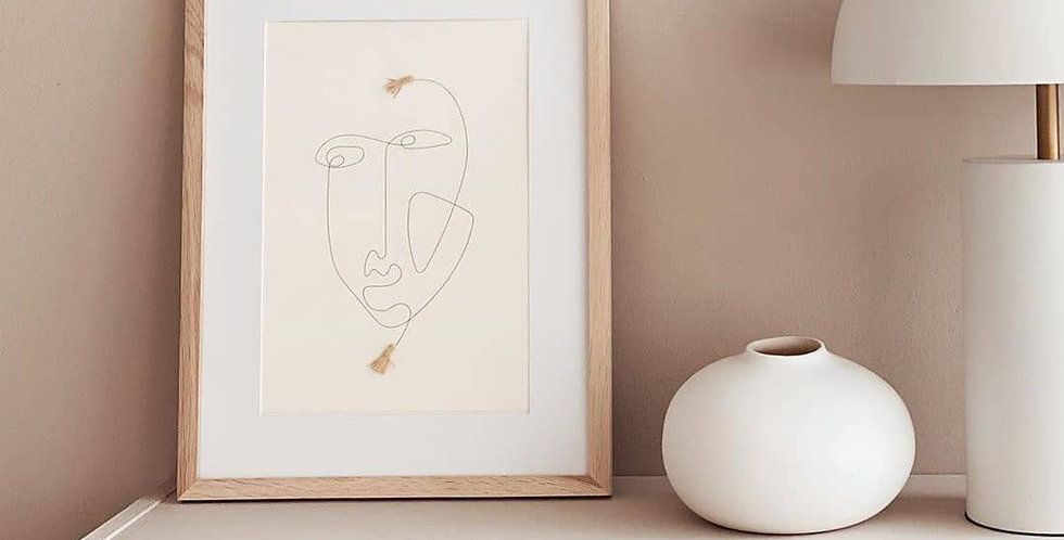 One Line Face Wall Print