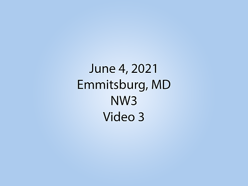 June 4 NW3 Trial, Emmitsburg, MD: Exterior