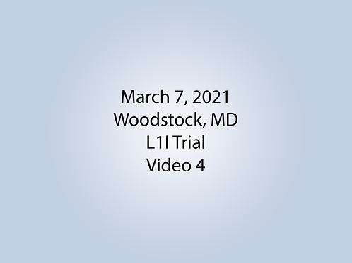 March 7 Woodstock, MD L1I: Hall