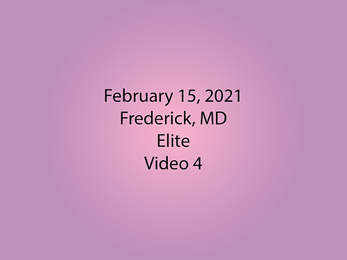 February 15 Frederick, MD Elite: Video 4