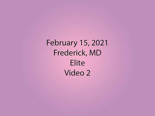 February 15 Frederick, MD Elite: Video2