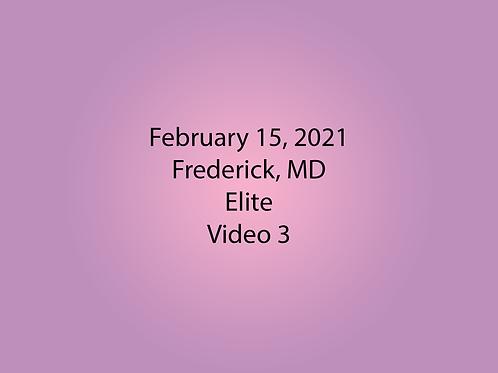 February 15 Frederick, MD Elite: Video 3