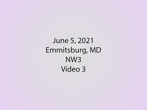 June 5 NW3 Trial, Emmitsburg, MD: Exterior