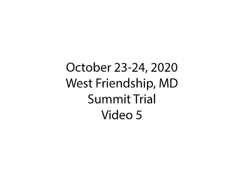 October 23-24 West Friendship, MD Summit Trial: The Overlook