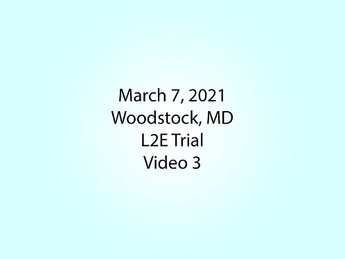 March 7 Woodstock, MD L2E: Picnic Tables