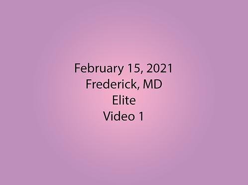 February 15 Frederick, MD Elite: Video 1