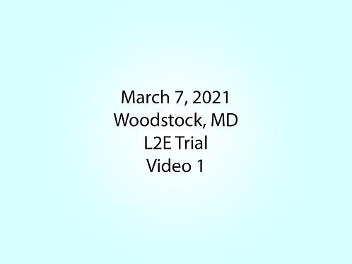 March 7 Woodstock, MD L2E: Flower Garden