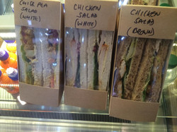 Freshly made sandwiches