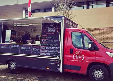 Food truck Chez Greg cantine mobile à la Fac de médecine de Lille
