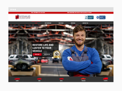 Auto Body Shop Web Design Sample