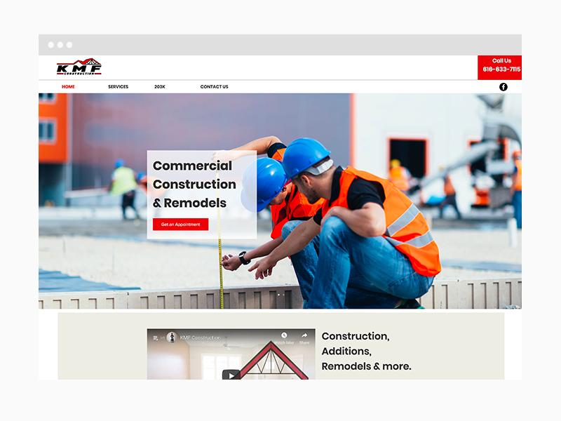 Construction Web Design Sample