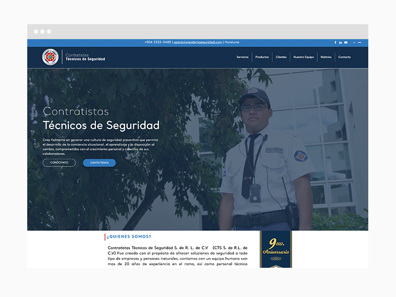 Safety Web Design Sample