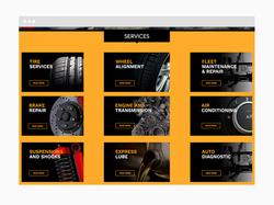 Auto Repair Web Design Sample