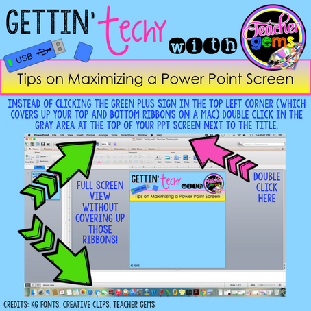 How to Maximize a Power Point Screen without Covering up the Ribbons