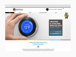 HVAC Web Design Sample