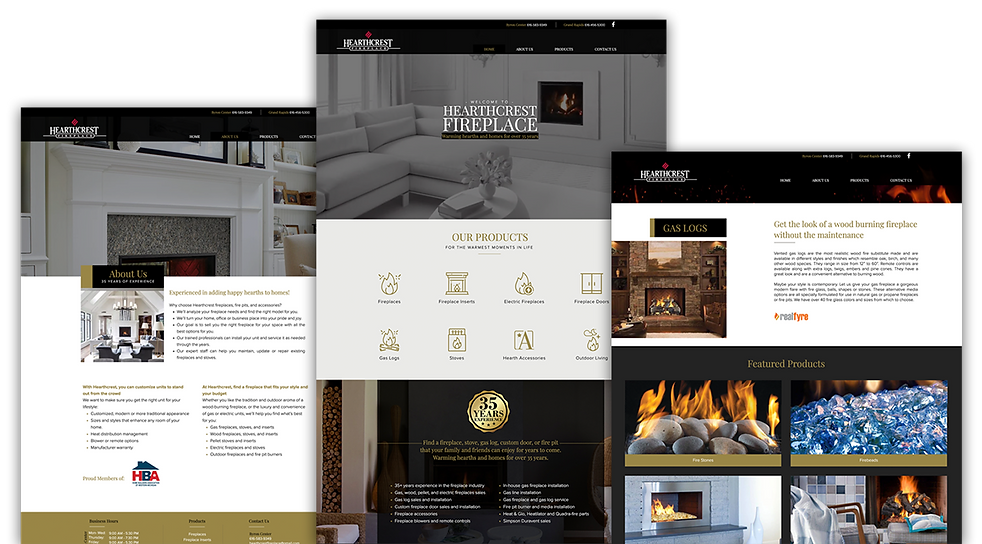 Hearthcrest Fireplace website
