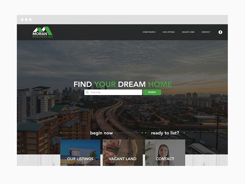 Real Estate Web Design Sample
