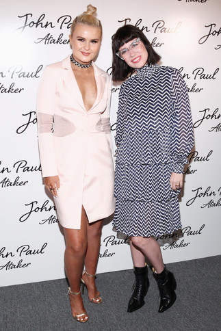 Ashlee Keating and Amy Roiland attending Jean Paul Ataker's SS17 show during NYFW