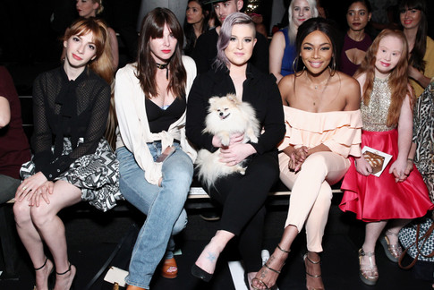 Front row at SS17 Jean Paul Ataker during NYFW with Molly Bernard, Kelly Osborne and Bonang Matheba