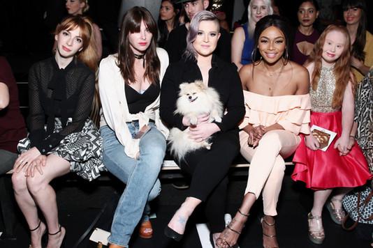 Front row at SS17 Jean Paul Ataker during NYFW with Molly Bernard, Kelly Osborne and Bonang Matheba
