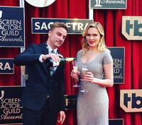 Sunny Mabrey at SAG Awards 2016 wearing Anne Bowen gown & Dana Michele jewelry