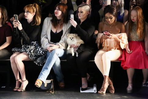 Front row at Jean Paul Ataker's SS17 show snapping pics
