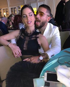 Natalia Barulich and Maluma at El Premio ASCAP 2019
