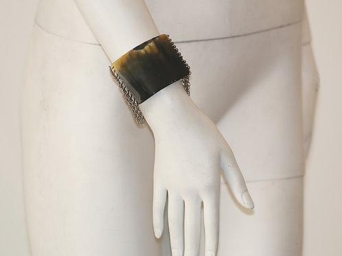 Mesh Bracelet W/ Horn Detail