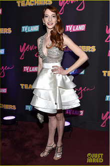 Molly Bernard wearing Luis Antonio