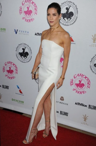 Allison Holker attends the Carousel of Hope Ball wearing Dana Michele bracelets