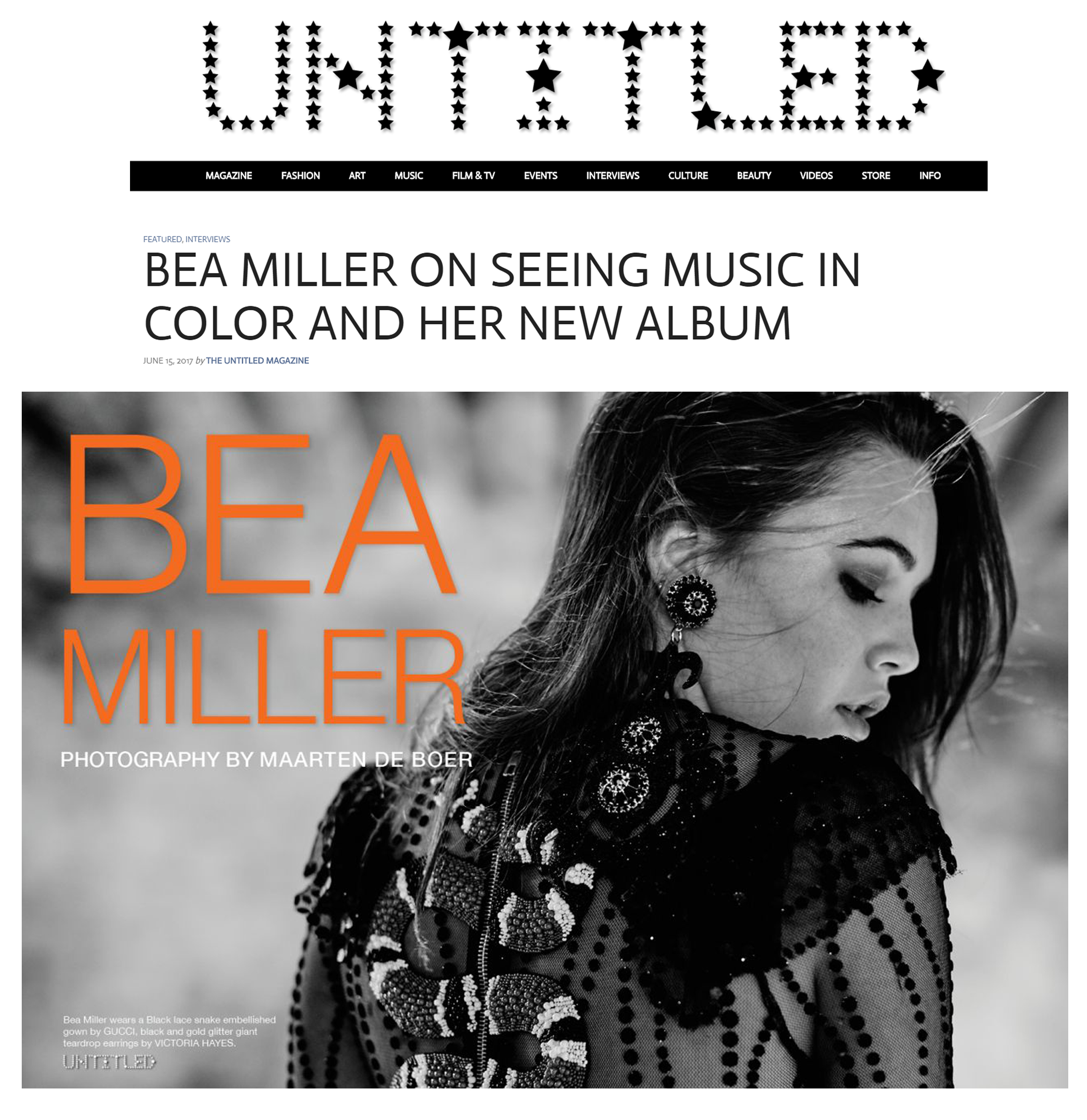 Bea Miller - The Untitled Magazine