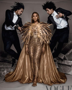 Beyonce on the cover of Vogue magazi