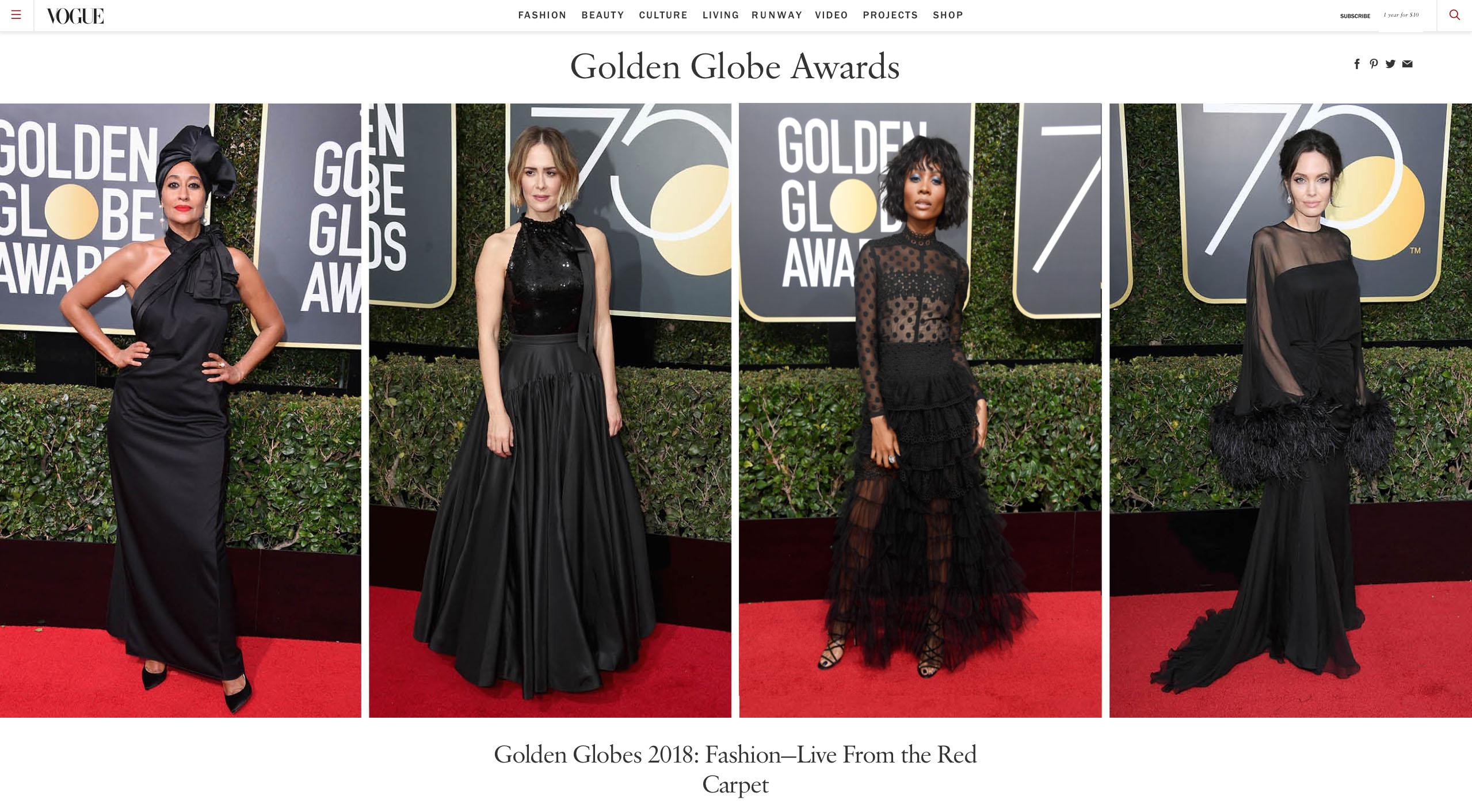Zuri Hall - Vogue Golden Globes