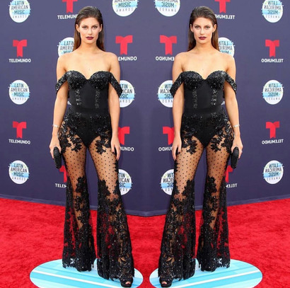 Hannah Stocking at the 2018 Latin American Music Awards