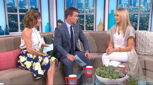 Marla Maples wearing NVII by Anne Bowen on Access Hollywood