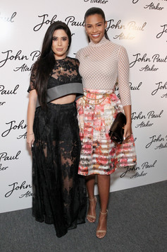 Symon and Kamie Crawford pose at Jean Paul Ataker's SS17 NYFW show