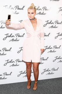 Ashlee Keating wearing Joyce Echols shoes at NYFW SS17 Show
