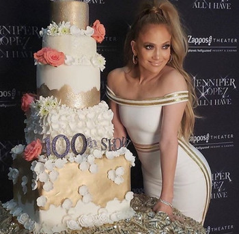 Jennifer Lopez at her 100th Las Vegas Show