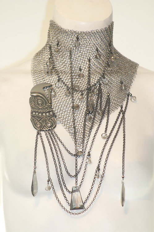 Eagle Necklace W/ Crystal Detail