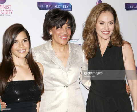 Amy Brenneman wearing Harper's PR Private Collection at Women's Rights Awards