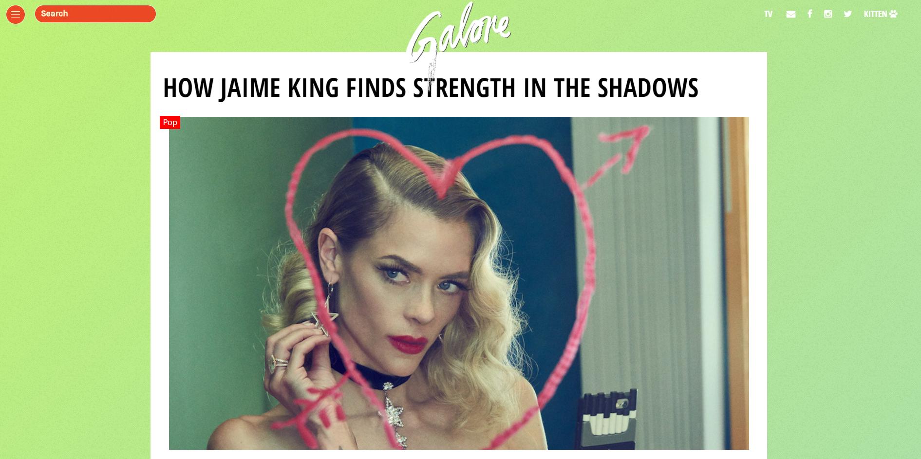 Jaime King - Galore Magazine