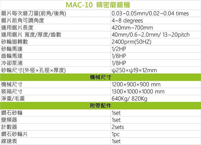 精密磨鋸機 MAC-10