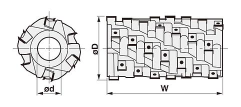Heavy Duty Spiral Cutterhead -HPB-14
